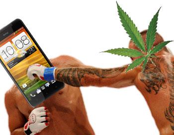 Марихуана бьет смартфоны