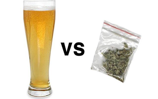 Марихуана против алкоголя